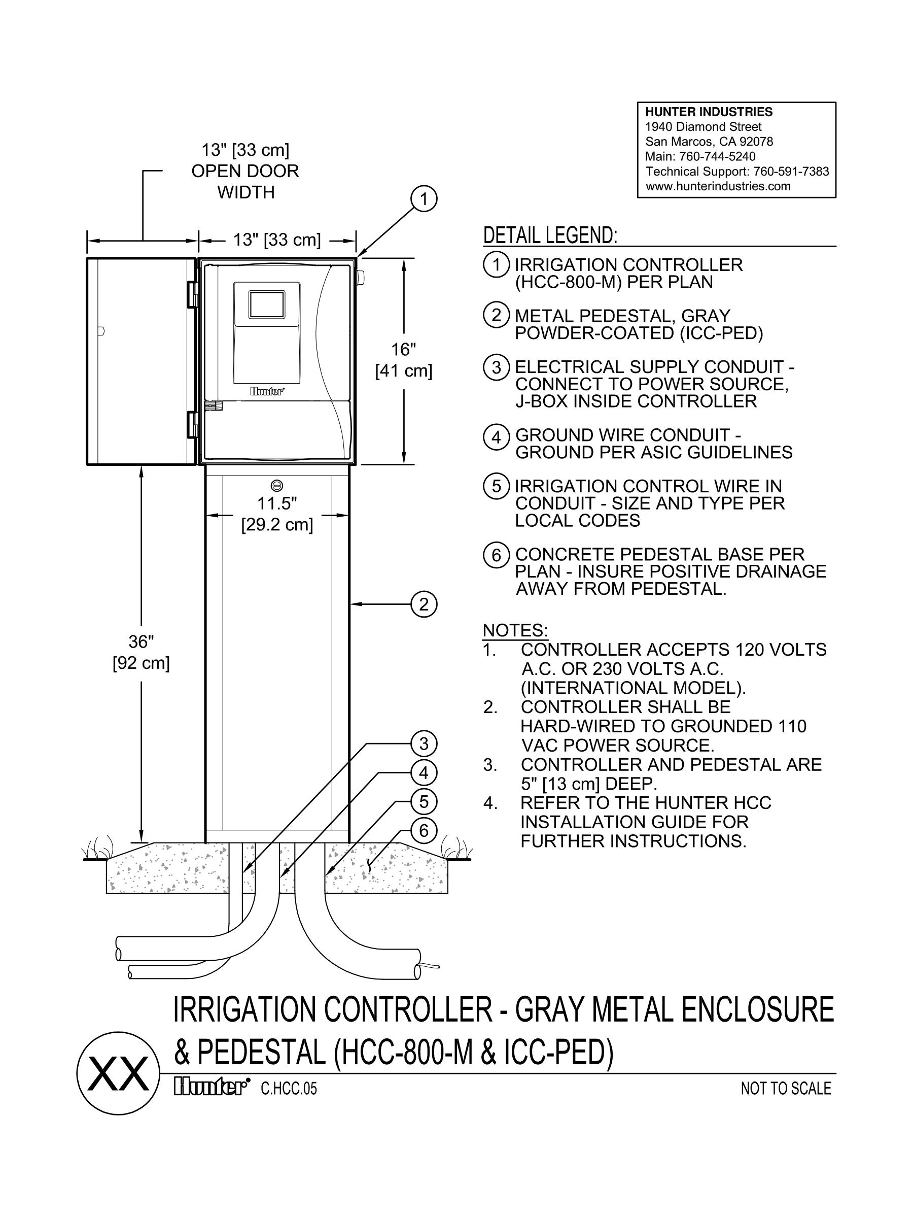 CAD - HCC Controller - Metal Pedestal