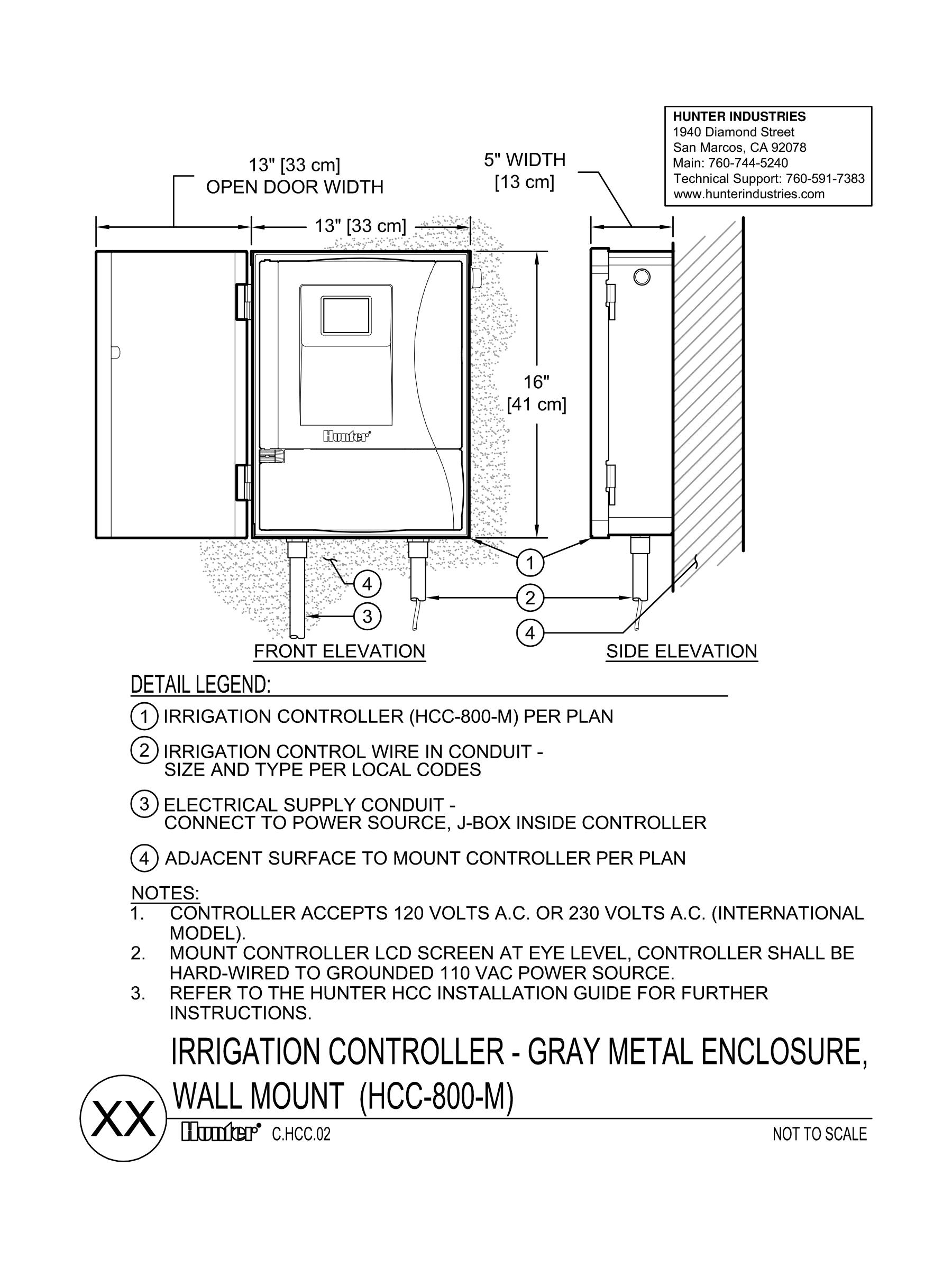 CAD - HCC Controller - Metal Wallmount