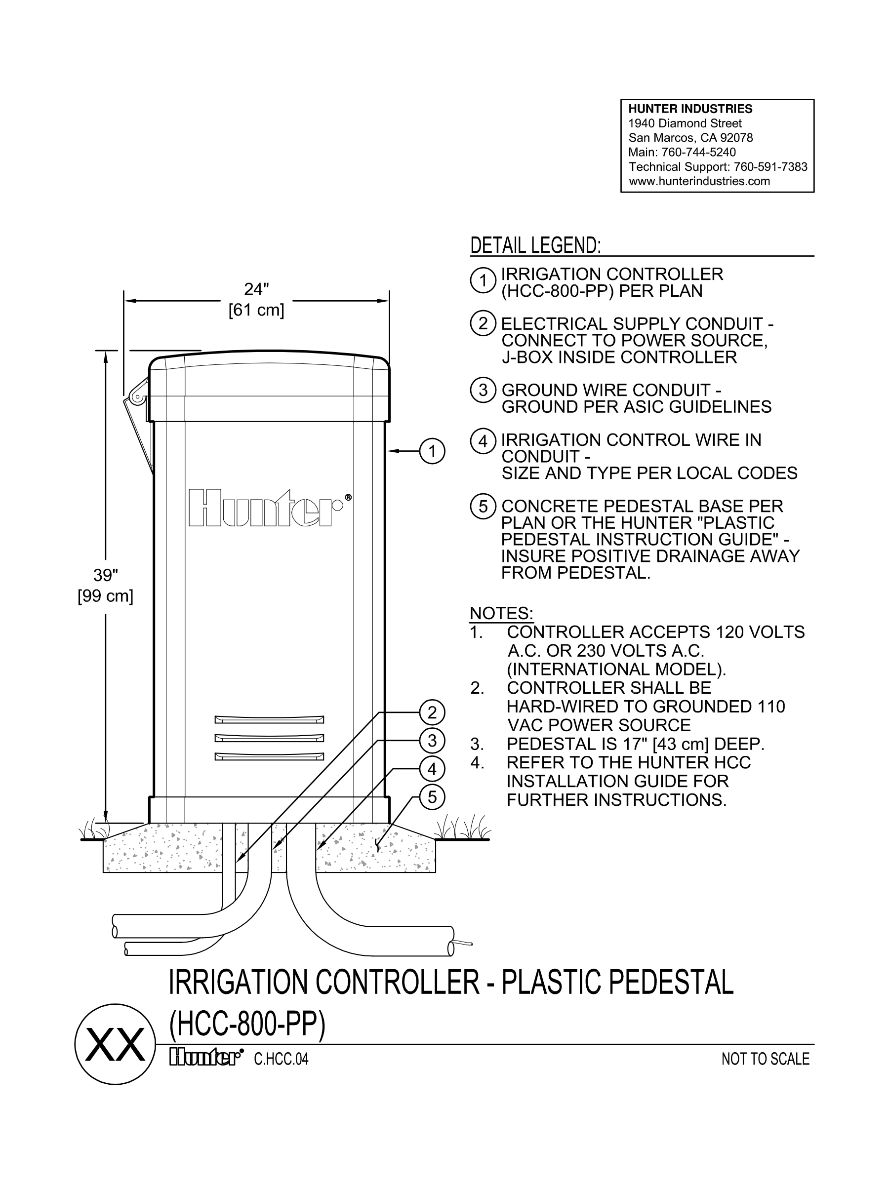 CAD - HCC Controller - Plastic Pedestal