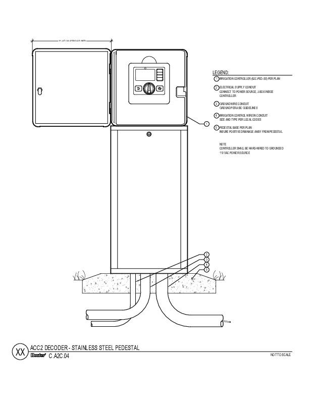 CAD - ACC2 Decoder Stainless Steel Pedestal