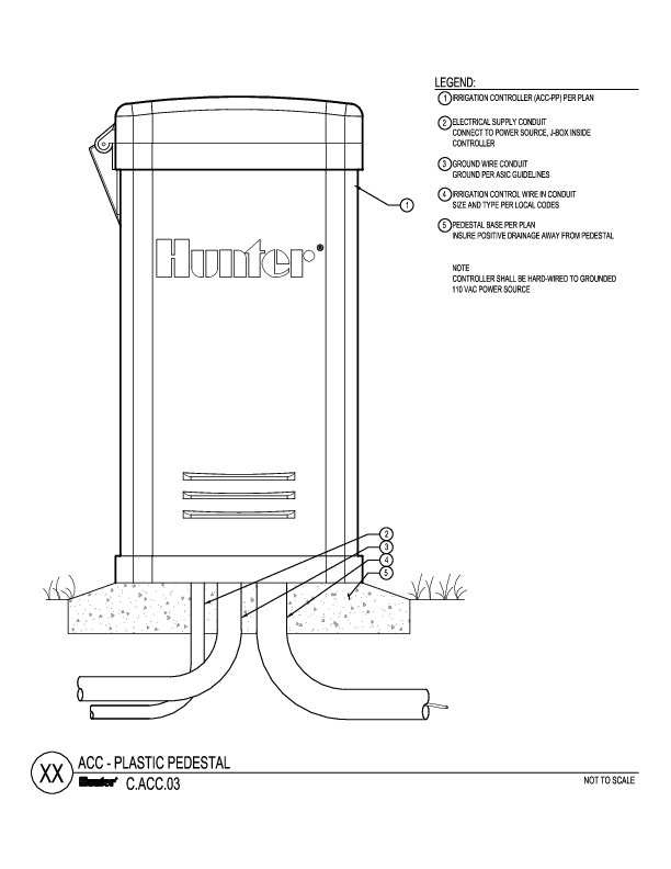 CAD - ACC Plastic Pedestal