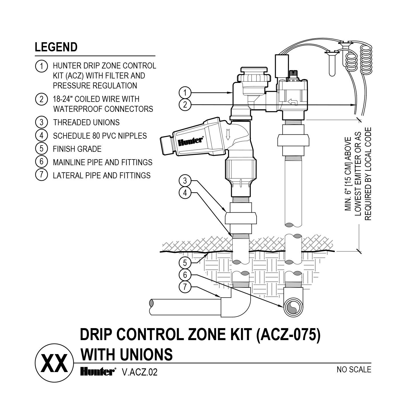 CAD - ACZ-075 with Unions