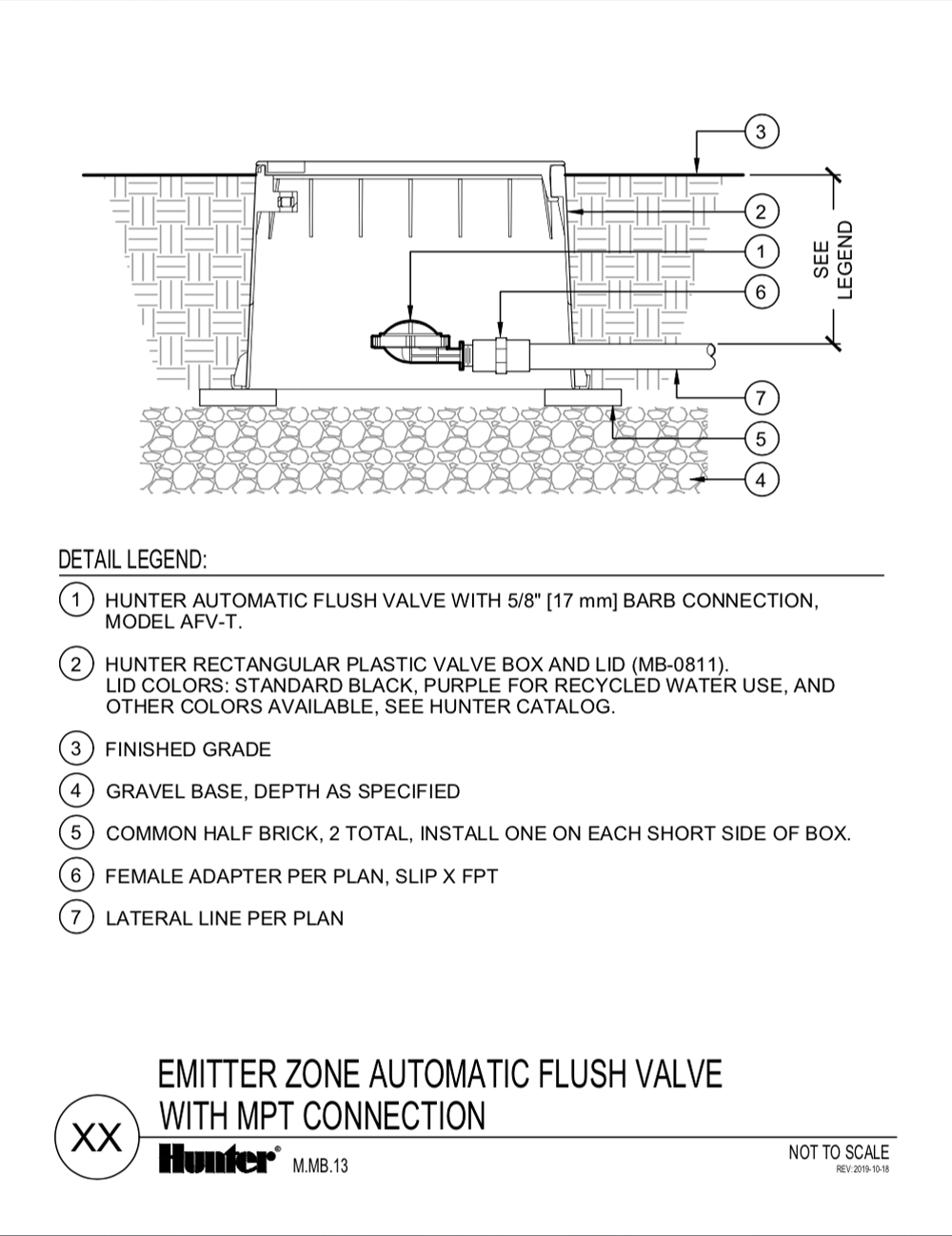 CAD - Automatic Flush Valve with MPT Connection