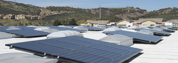 Hunter Solar Panels on Campus