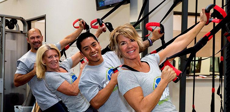 Hunter Industries Wellness Center Employees Exercising