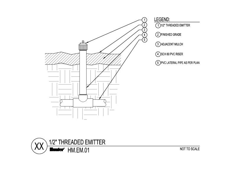 CAD - HEB Threaded Emitter