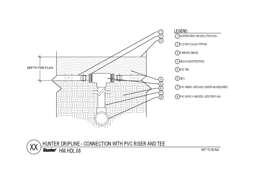 HDL - Connection with PVC Riser and Tee On Grade