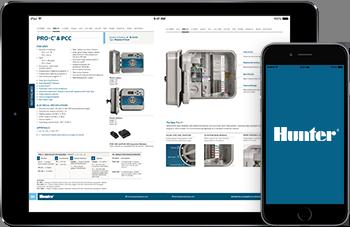 Hunter mobile catalog app screenshot