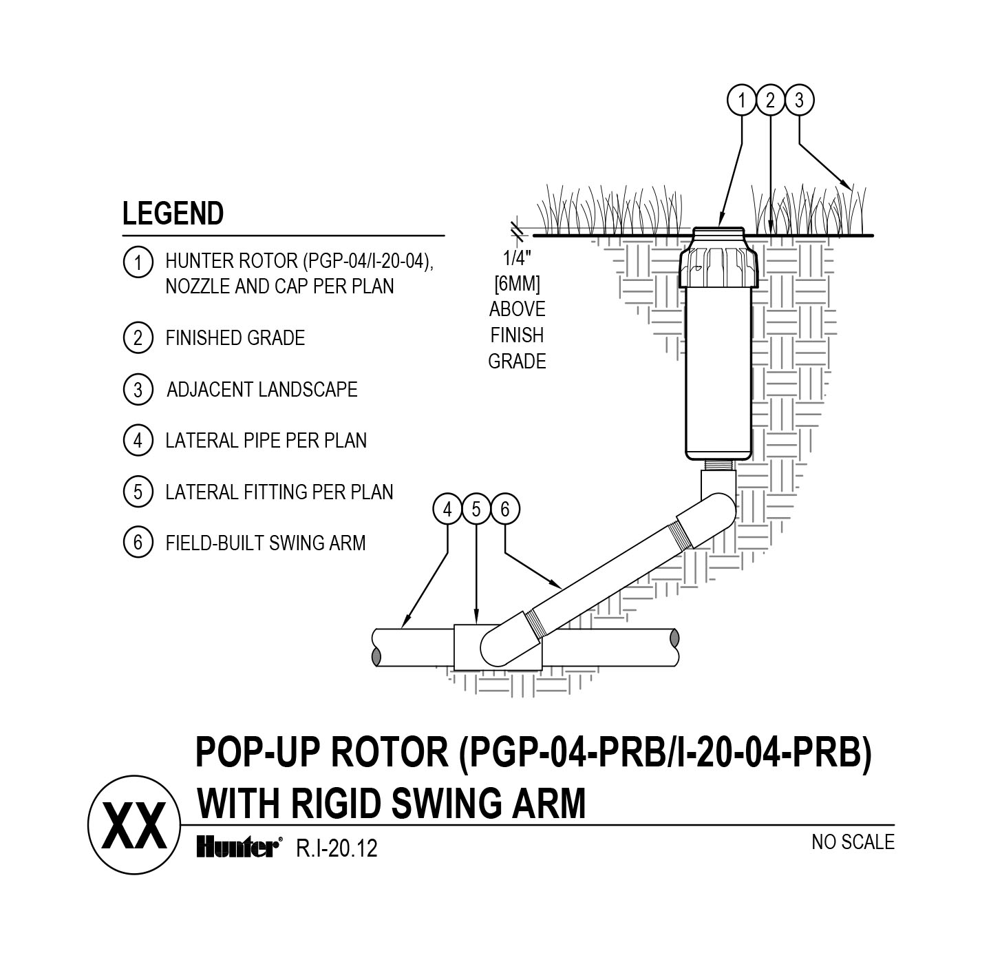 CAD - I-20-04-PRB PGP-04-PRB with swing arm