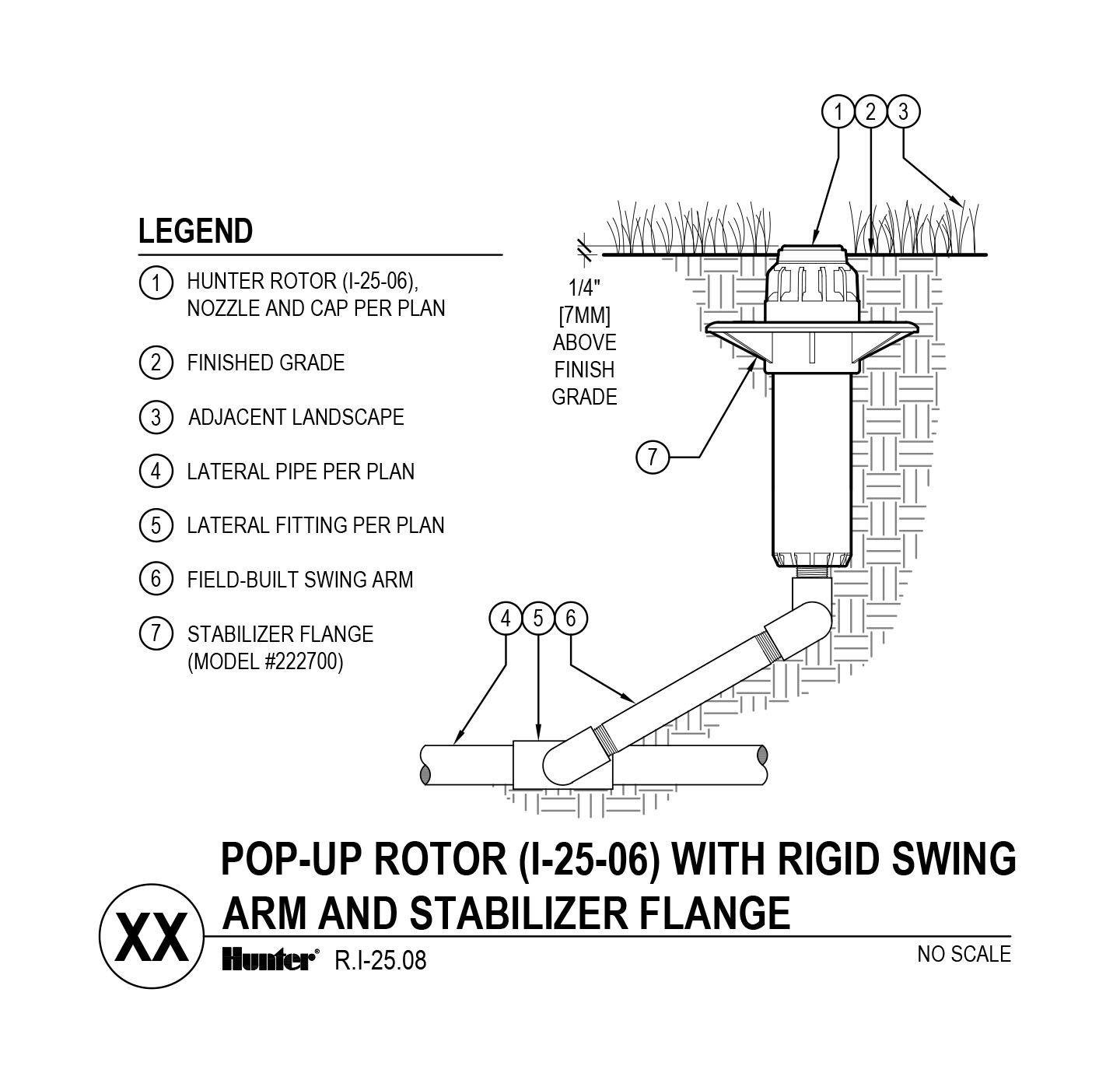 CAD - I-25-06 with swing arm and stabilizer flange