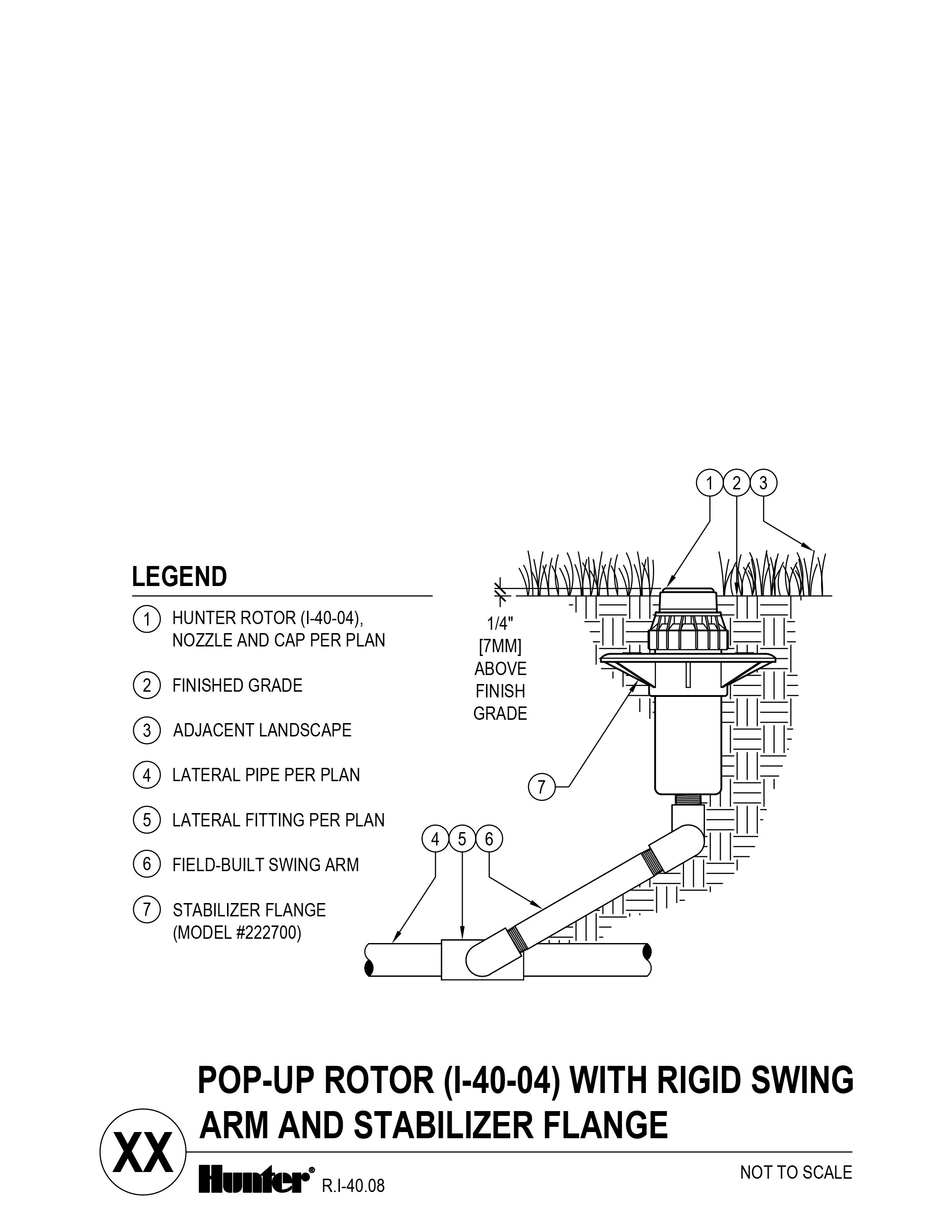 CAD - I-40-04 - Pop-up Rotor with Rigid Swing Arm and Stabilizer Flange