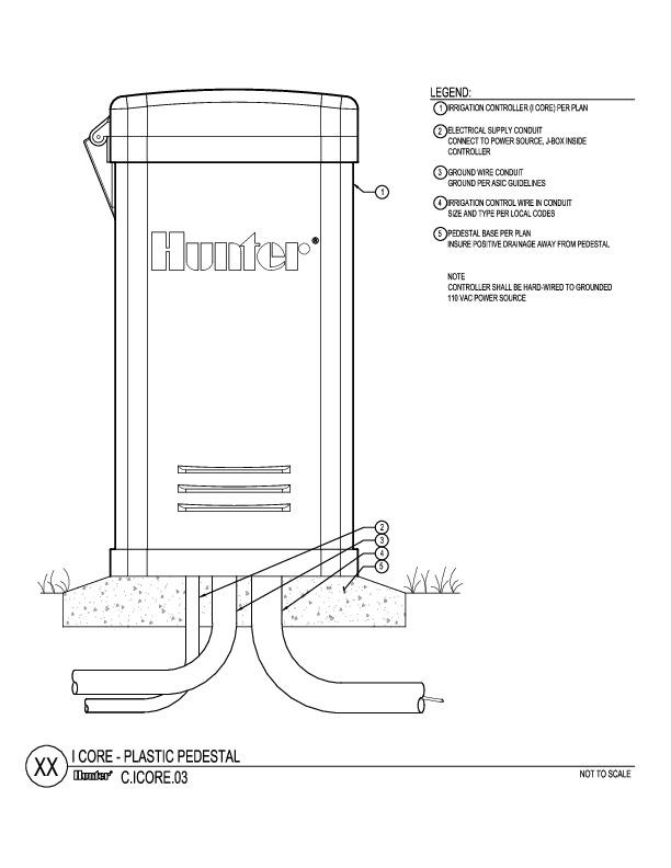 CAD - I-Core Plastic Pedestal