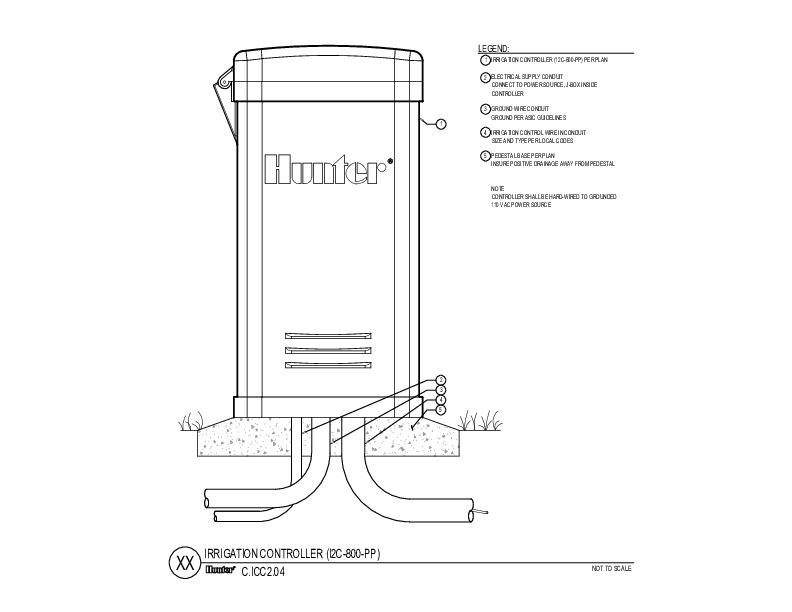 CAD - ICC2 Plastic Pedestal