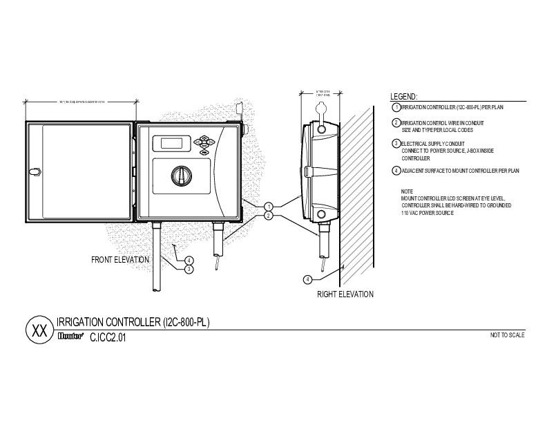 CAD - ICC2 Plastic Wall Mount