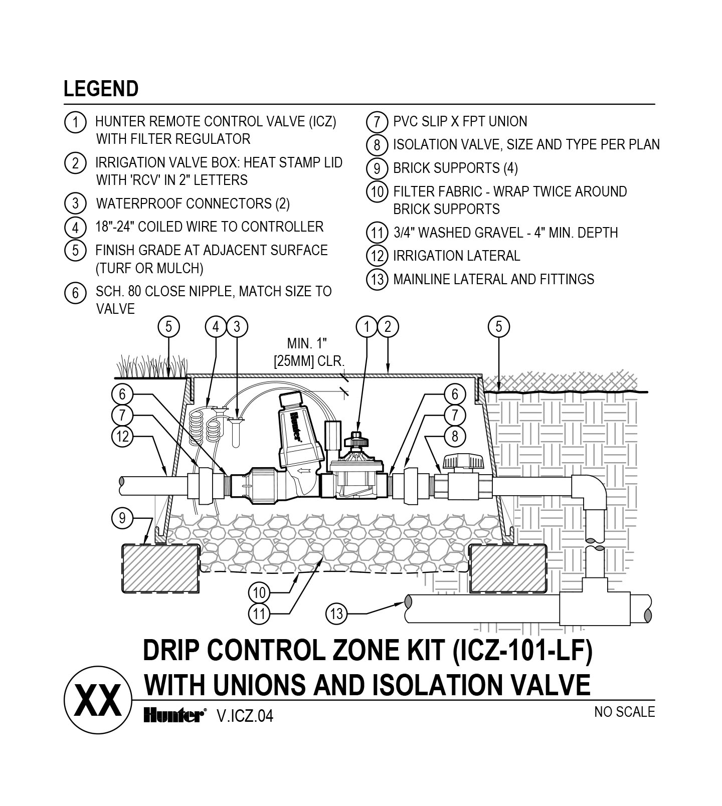 CAD - ICZ-101-LF with Unions and Shutoff Valve