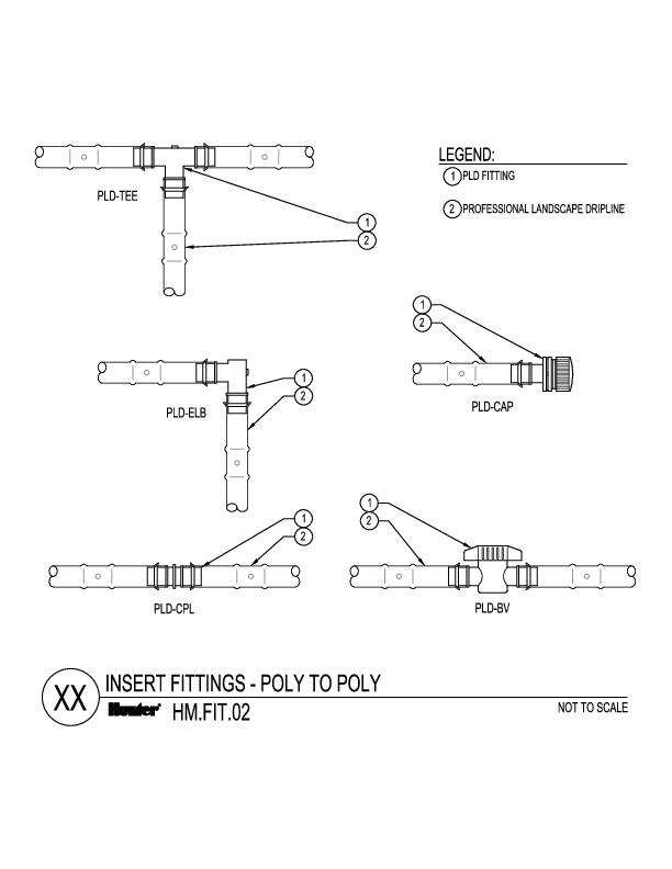 CAD - Insert Fittings - Poly to Poly