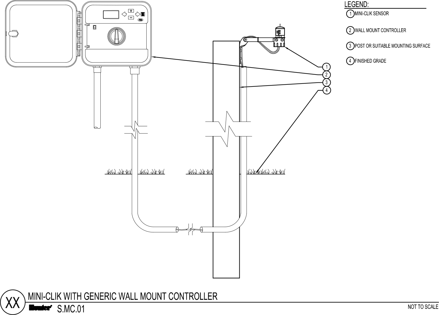 CAD - Mini Clik with Generic Wall Mount Controller