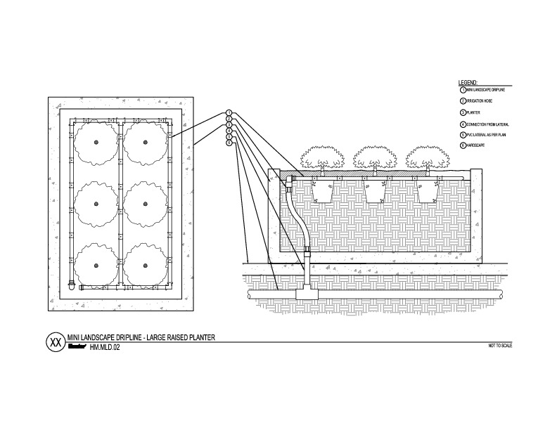 CAD - MLD Raised Planter Large