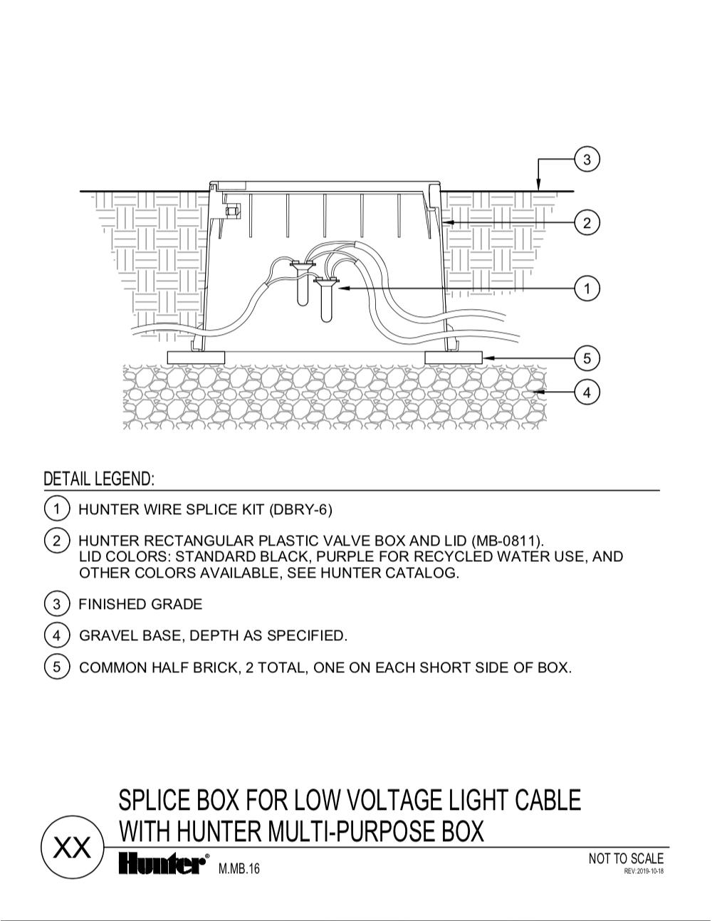 CAD - Splice box for love voltage light cable with hunter multi-purpose box