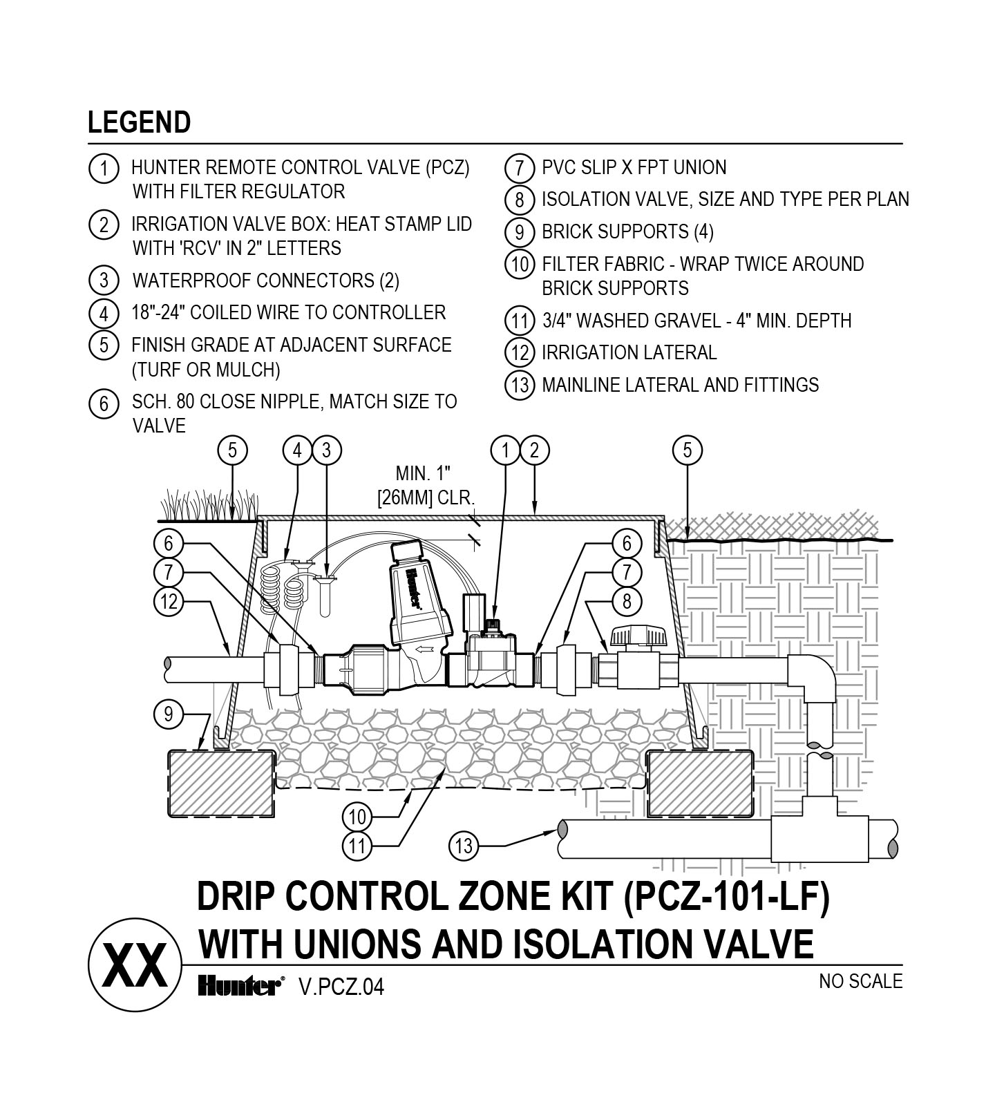 CAD - PCZ-101-LF with Unions and Shutoff Valve