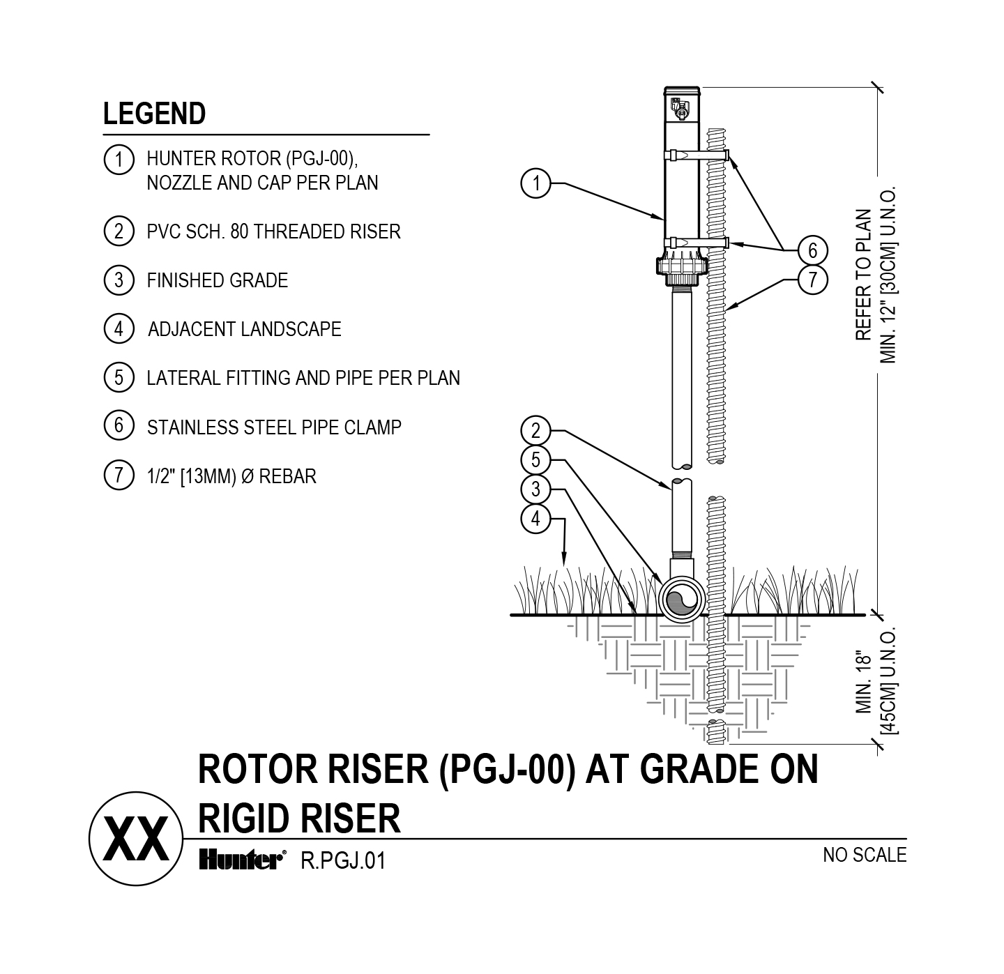 CAD - PGJ-00 On Grade with rigid riser