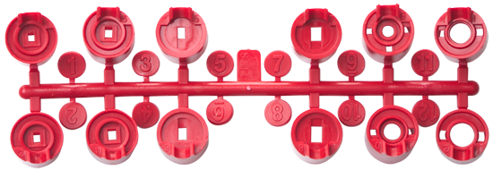 Hunter Standard Red Nozzle Rack for PGP-ADJ Rotors 130900