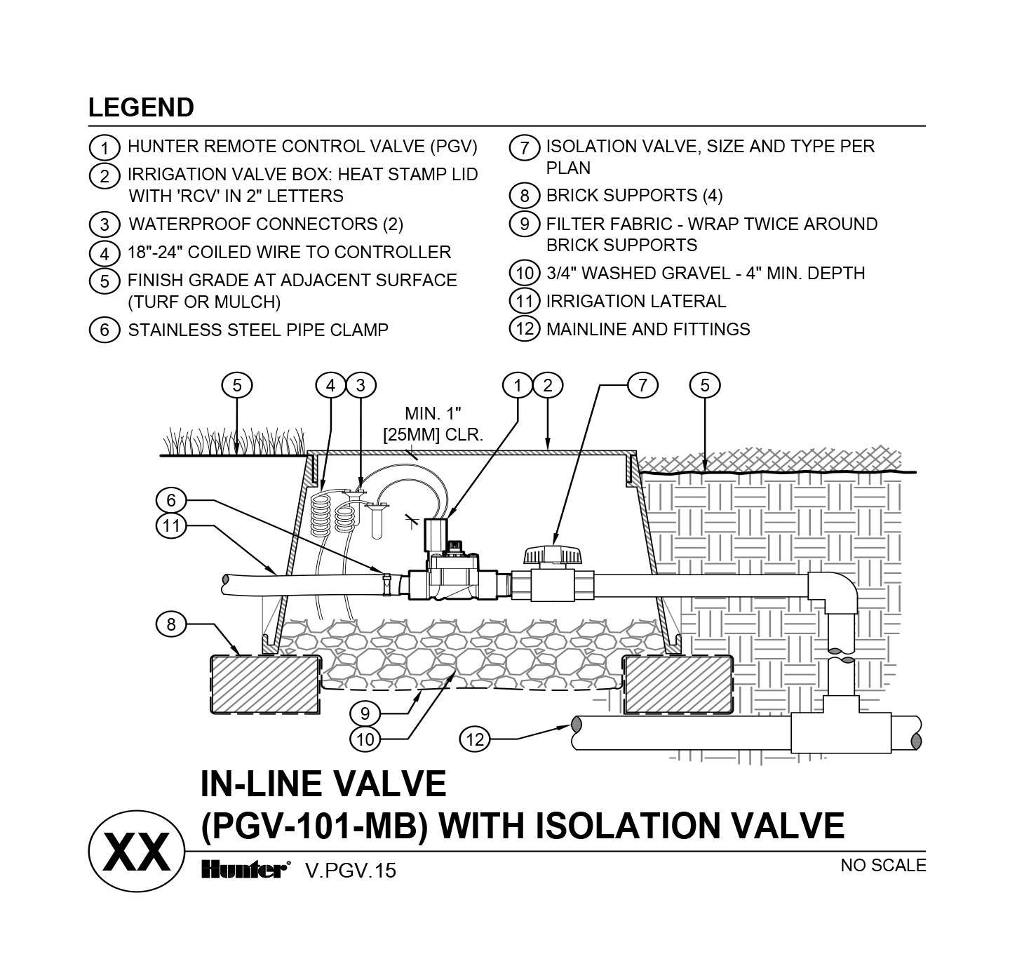 CAD - PGV-101-MB with unions and shutoff valve