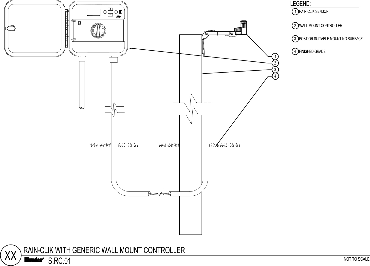 CAD - Rain-Clik with Generic Wall Mount Controller