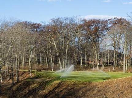 Rotor Sprinklers on Golf Course