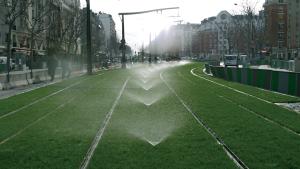 Sprays Running on Rail Track