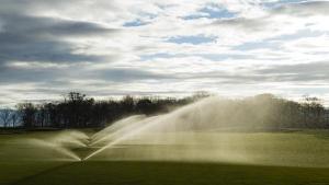 Golf Rotor Sprinklers Running