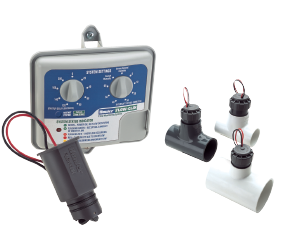 Flow-Clik sensor and module shown with receptacle tees