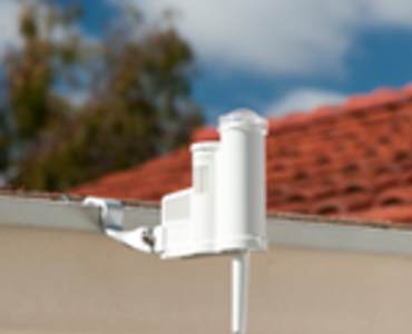 Wireless Solar Sync Mounted on House