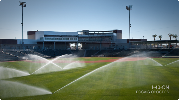 I-40 Sprinklers on Sports Field