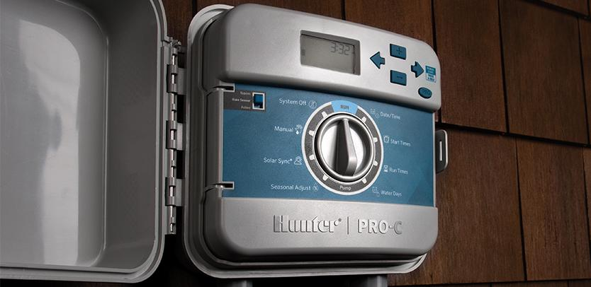 Hunter pcc600 6-station outdoor controller / timer with internal.