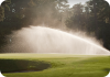 G85B Golf Sprinkler on Golf Course