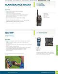 Maintenance Radio Product Cutsheet