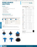 Point Source Drip Emitter Product Cutsheet