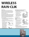 Tarjeta de Instalación del Wireless Rain-Clik