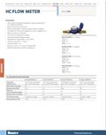 HC Flow Meter Cut Sheet