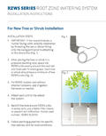 Root Zone Watering System Installation Card