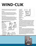 Wind-Clik Installation Card