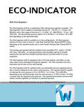 Eco-Indicator Written Spec