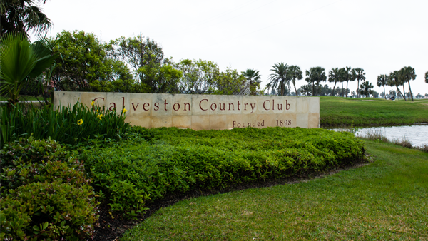 Galveston Country Club Sign
