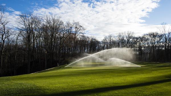 Golf Course with Sprinkler System