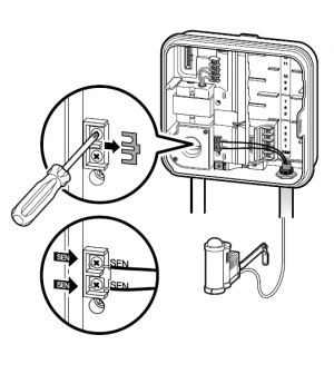 pro c installing the wired solar sync hunter industries Water Pump for Sprinkler System adjust the region by using the up or down arrows press the right arrow once the water adjustment will be flashing adjust the water adjustment by using