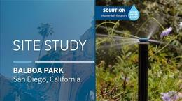 Balboa Park Sprinkler Retrofit Site Study: Sprays to MP Rotators