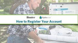 Hydrawise: How to Register Your Account