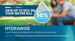 Hydrawise: How to add a customer to a contractor account