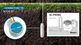 NODE-BT Irrigation Controller with SC-PROBE Soil Moisture Sensor